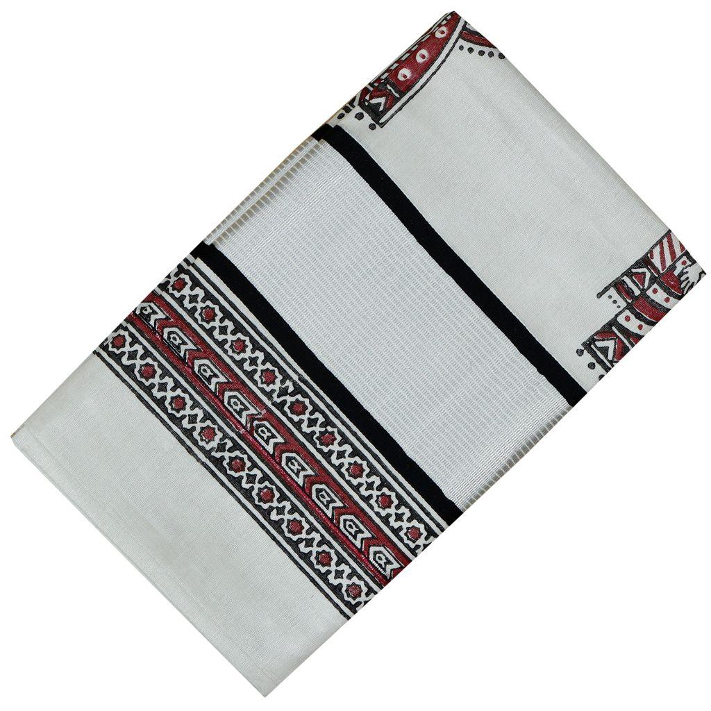 Traditional Hand Block Print Saree