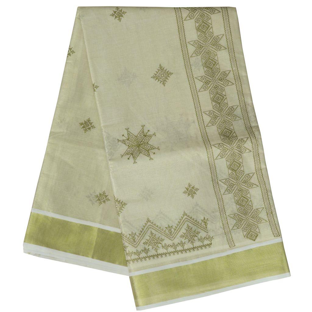 Kasuti Embroidery Cotton Tissue Saree