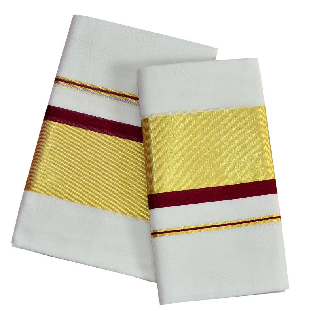 Kuthampully Handloom Cotton Setmundu