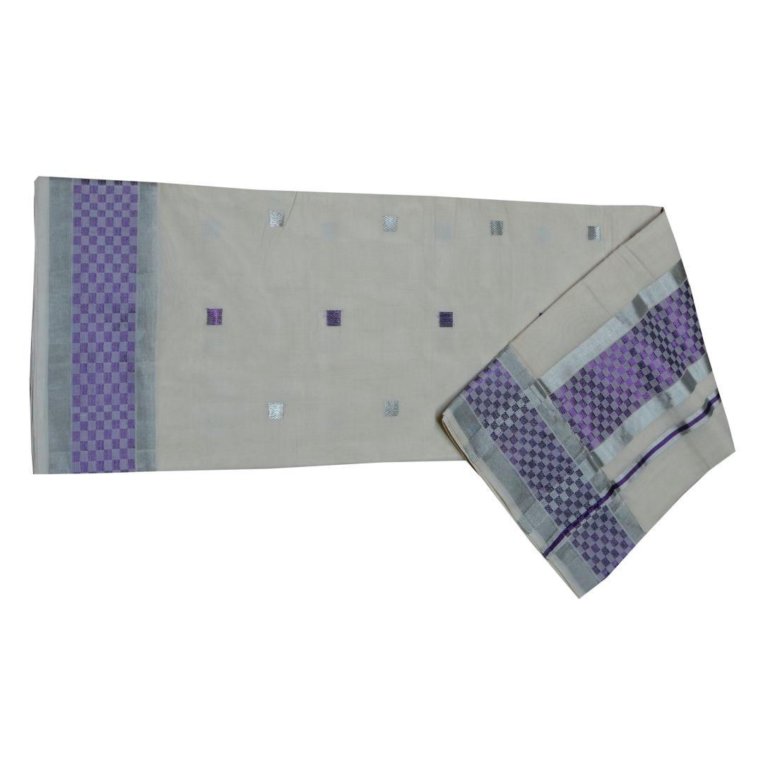 Kuthampully Handloom Cotton Saree