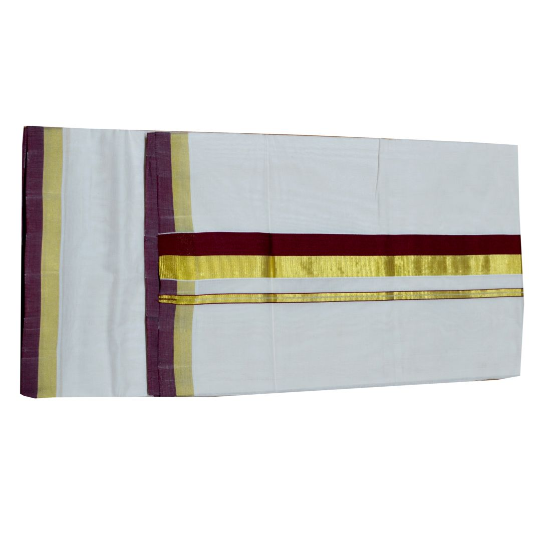 Kuthampully Handloom Kasavu Saree