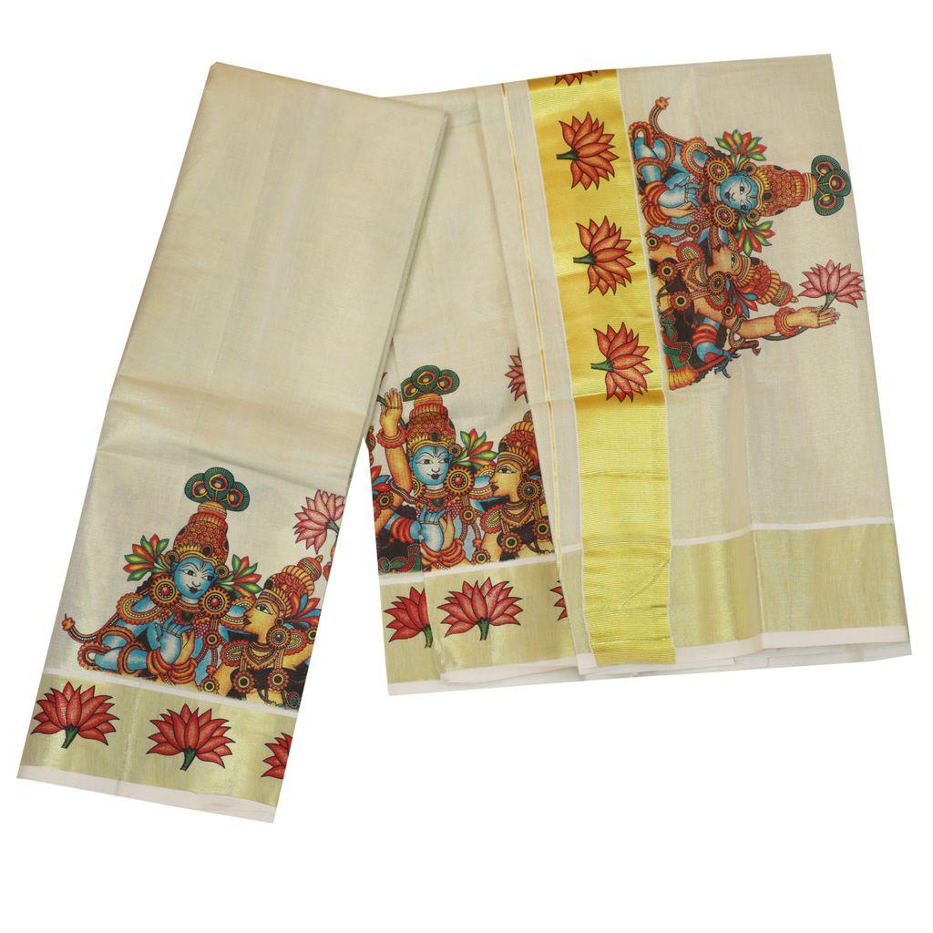 Golden Tissue Mural Dhavani Material