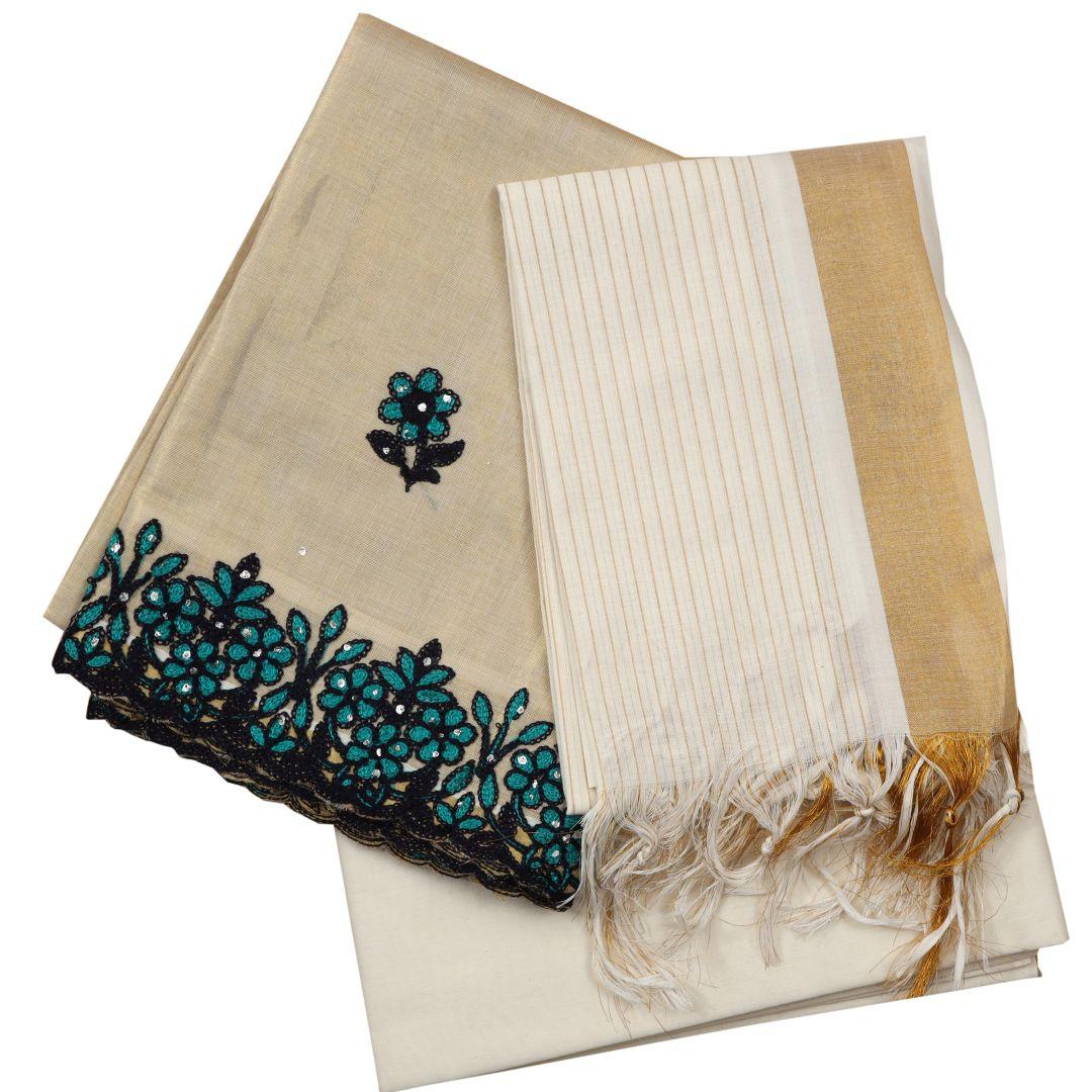 Kerala Kasavu Churidhar Material