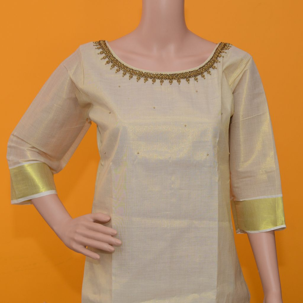 Traditional  Stitched Salwar With Bead Work