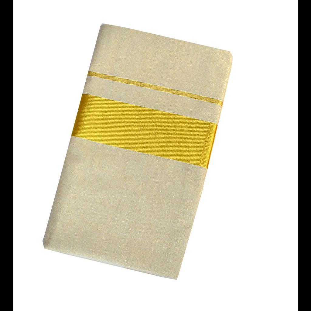 Ekatva Plain Golden Tissue Tissue Saree