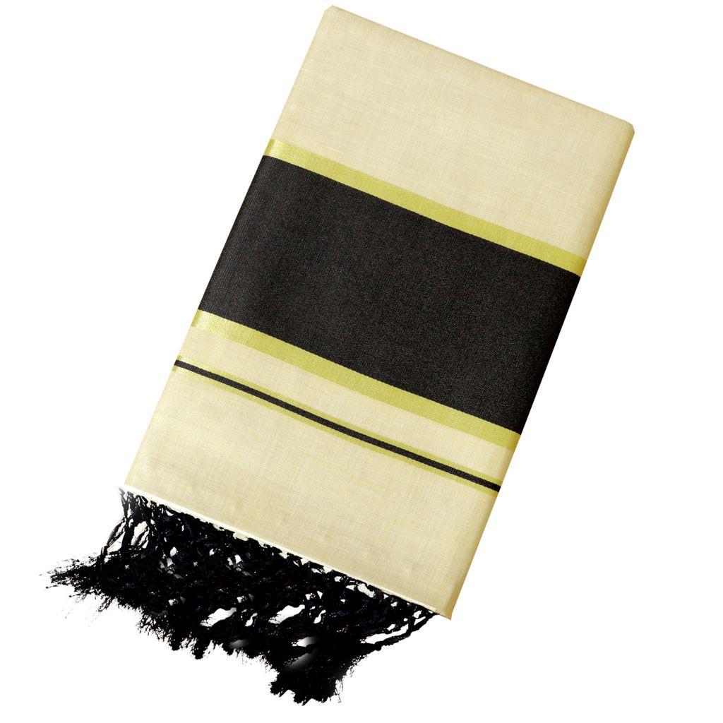 Plain Tissue Saree With Radiant Black Border
