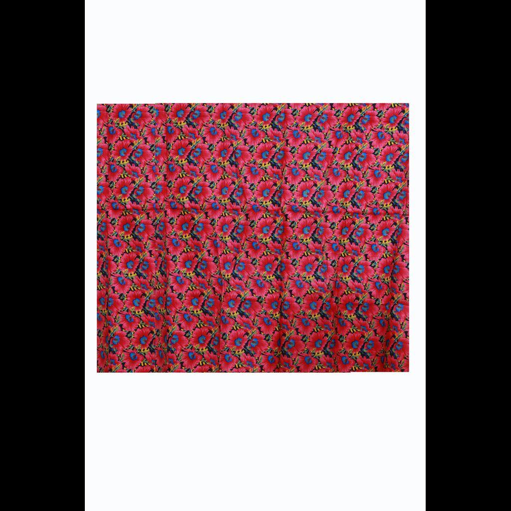 Kerala Kasavu Saree With Appliqued Floral Prints