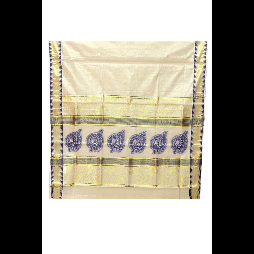 Traditional Golden Tissue Saree