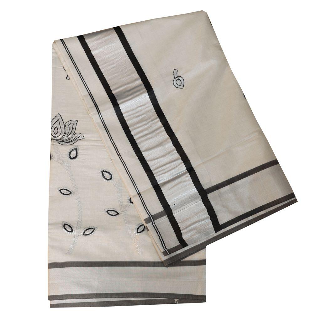 Silver Tissue Kerala Saree