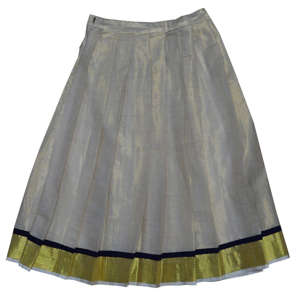 Kerala Style Pattu Pavadai With Stone Embroidery Top