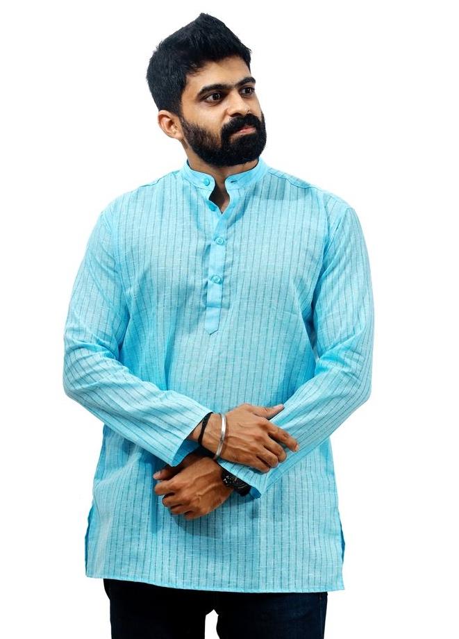 Men's Cotton Short Kurta