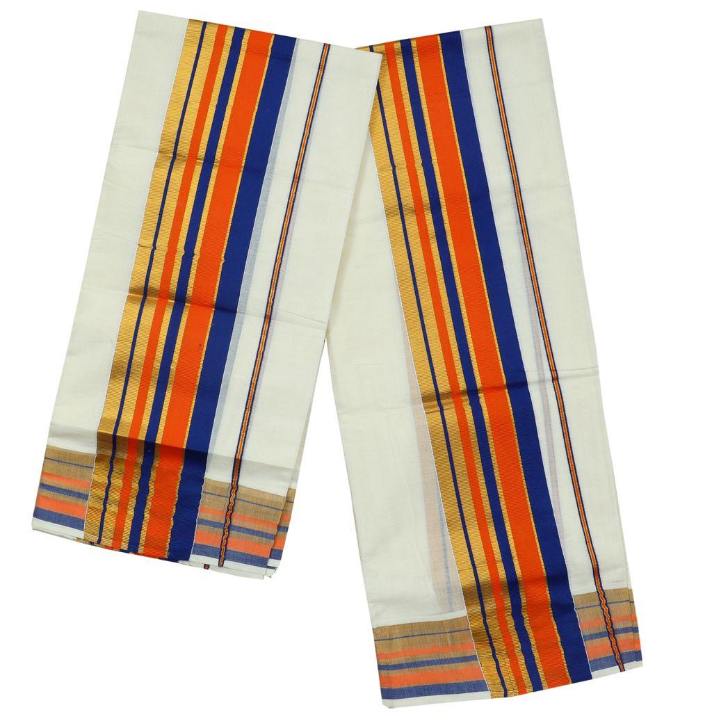 Orange And Blue Fancy Kara Setmundu