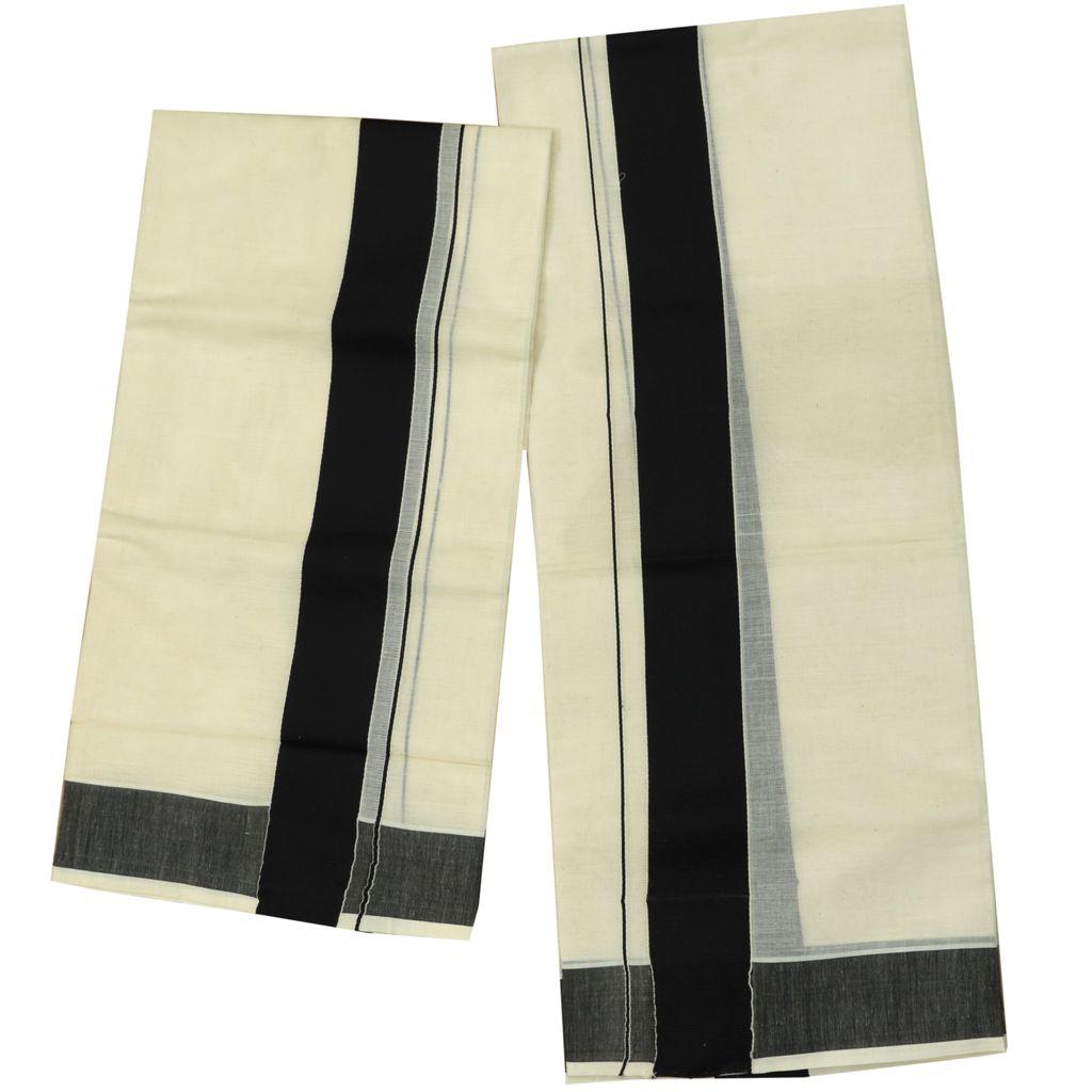 Cotton Setmundu With Black Kara