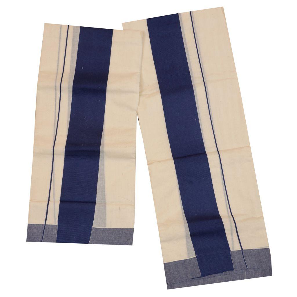 Set Mundu With Blue Kattikara