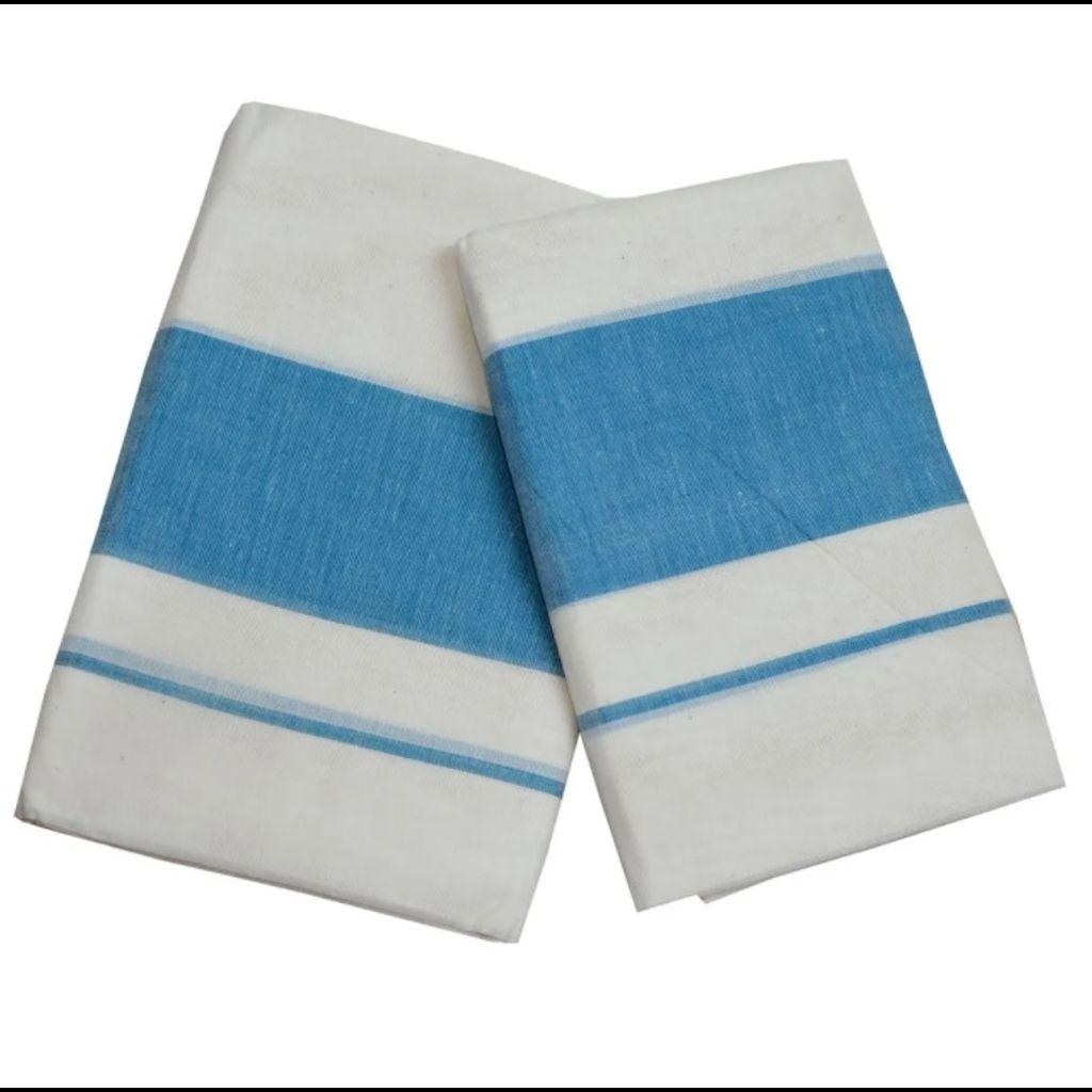 Set Mundu With Blue Kara