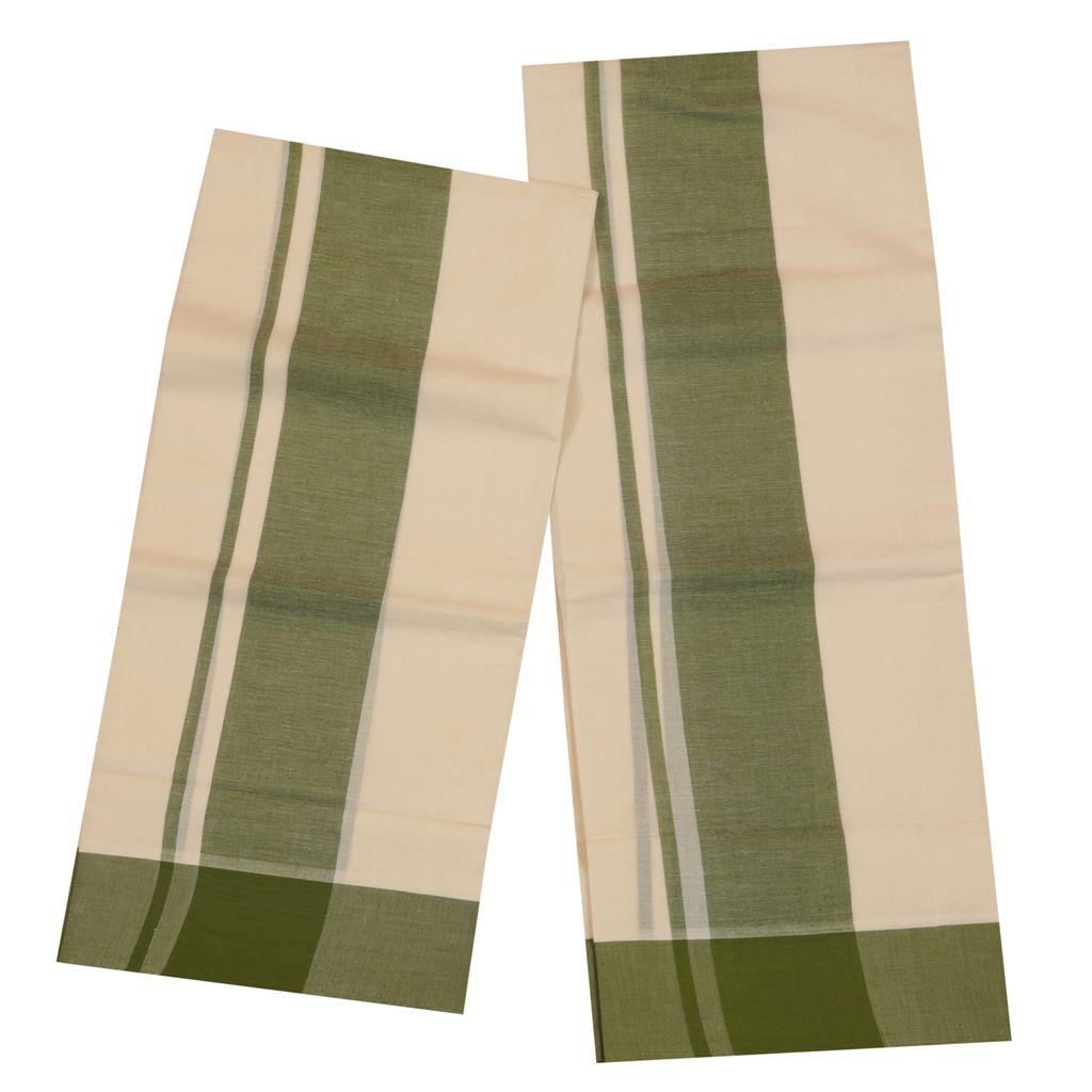 Set Mundu With Green Kara