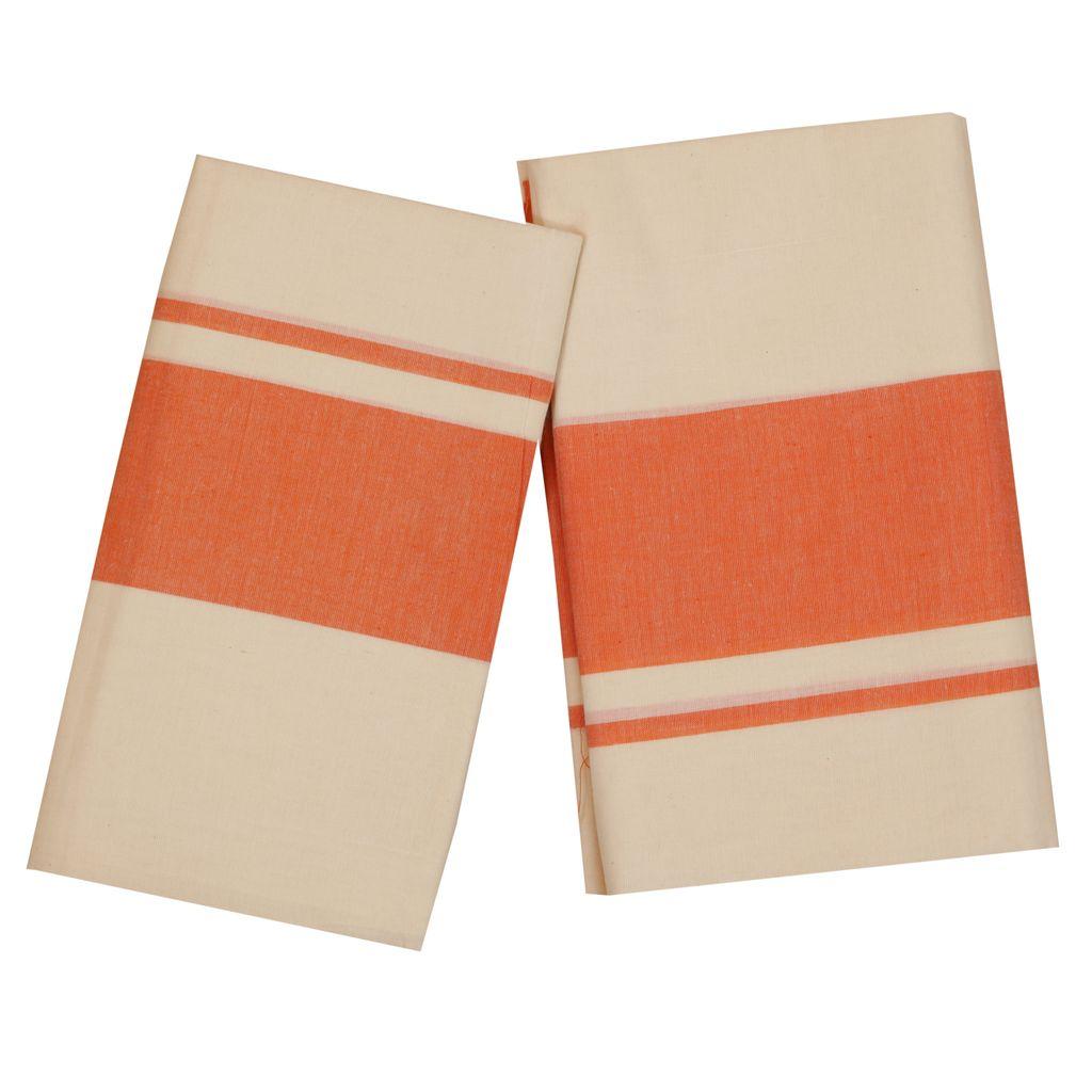 Set Mundu With Orange Kara
