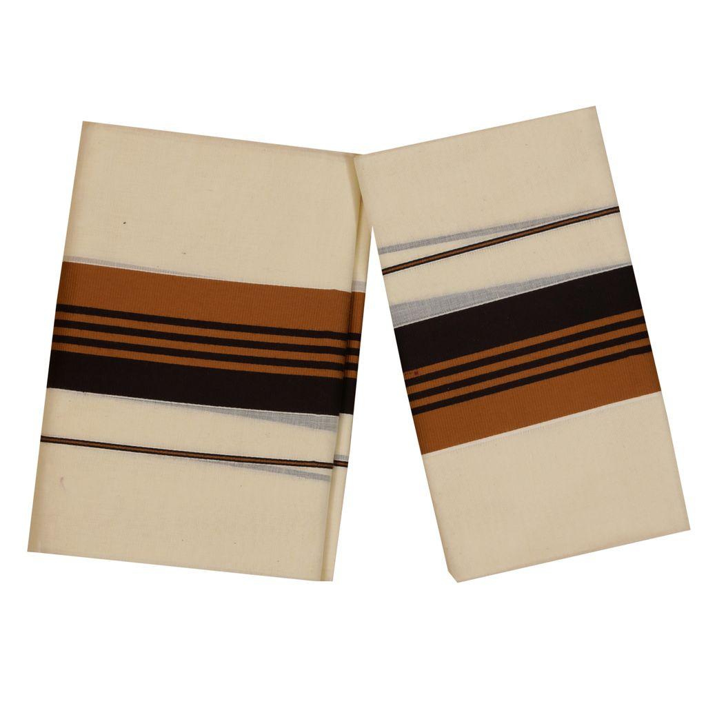 Setmundu With Cofee Brown And Brown Stripes Kara