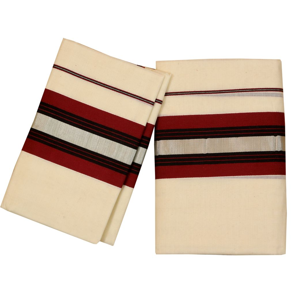 Setmundu With Pink Red And Silver Stripes Kara