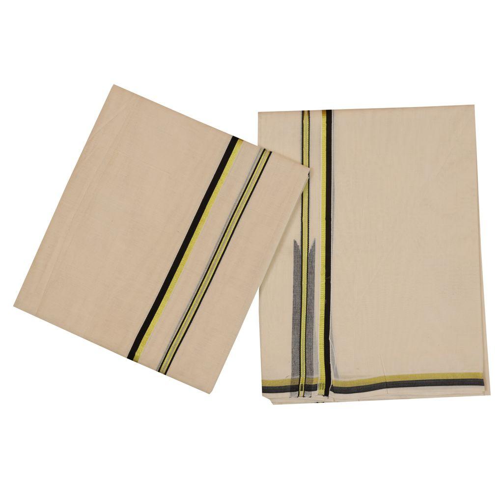 Cotton Set Mundu With Chutti Design